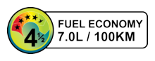 Sample vehicle fuel economy label